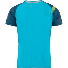La Sportiva Motion T-Shirt Herre tropic blue/opal